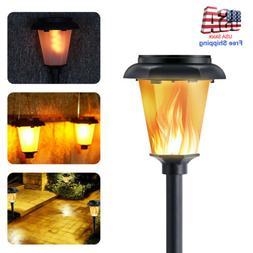 12 LED Solar Torch Dance Flickering Flame Light Garden Yard