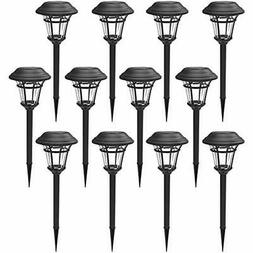 MAGGIFT 12 Pack Solar Pathway Lights Outdoor Garden For Pati