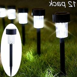 Maggift 12 Pack Solar Pathway Lights Solar Garden Lights Out