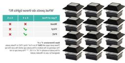 12 Pack Solar Power Square Outdoor Post Cap Lights for 4x4 P