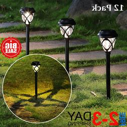12 Pack Solar Powered Lights Outdoor Pathway Lights