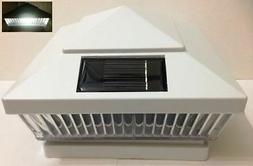 2-Pack Solar WHITE Post Cap LED Lights For 5 X 5 PVC Vinyl o