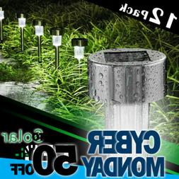 12 × Solar Lights Outdoor Stainless Steel Led Landscape Yar