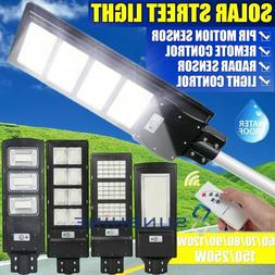 990000LM Outdoor Dusk-to-Dawn Solar Street Light Commercial