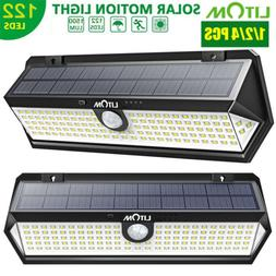 LITOM 122 LED Solar Lights Wall Motion Sensor Garden Securit