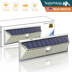 126 LED Solar Lights Outdoor Motion Sensor Security Wall Mou
