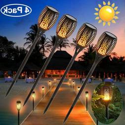 12LED Solar Lights Upgraded Waterproof Flickering Flames Tor