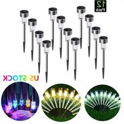 12pcs garden outdoor stainless steel led solar