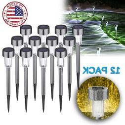 12x Outdoor Solar Power LED Garden Light Lawn Patio Pathway