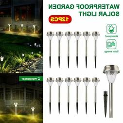 LED Solar Light Stainless Steel Lawn Lamp Garden Waterproof