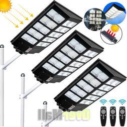 14000LM Commercial LED Solar Street Light Motion Sensor Dusk