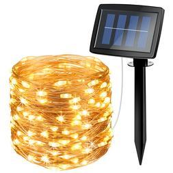 15m 150&LED Waterproof Solar Fairy String Strip Light Weddin