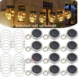 15pack Solar 20 LED Mason Jar String Light Lid Insert Garden