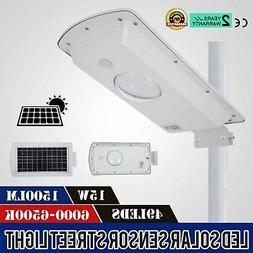 15W Led PIR Motion Sensor Solar Street Light Outdoor Deck 15