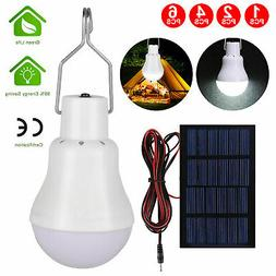 15W Rechargeable Solar Panel Powered Led Bulb Lamp Home Camp