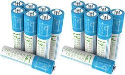 16 AAA Ni-MH 400mAh Rechargeable Batteries Baseline Battery