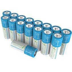 16 Baseline Battery 800 mAh IFR 18500 3.2v LiFePO4 Lithium P