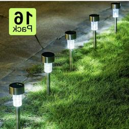 GIGALUMI 16 Pack Solar Path Lights Outdoor,Solar Lights Outd