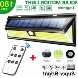 LITOM 180LED Solar Power Motion Sensor Wall Light Outdoor Ga