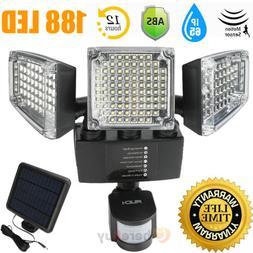 188 LED Solar Motion Sensor Light Flood 10000LM Outdoor Gard