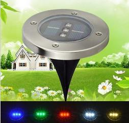 1PCS 3 LED Buried Solar Power Light Under Ground Lamp Outdoo