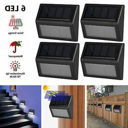 2/4/6pc Solar Powered LED Deck Lights Outdoor Path Garden St