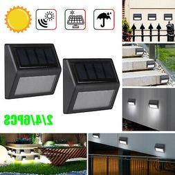2/4/6x Solar Fence Lights Wall Lights 6LED Outdoor Garden Pa