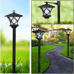 Solar Power Light Lamp Post Lantern Yard Stake Outdoor Garde