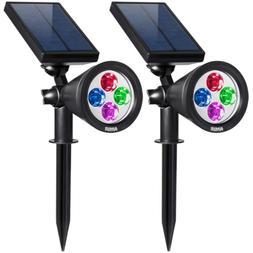 AMIR 2 in 1 Solar Spotlights, Upgraded Solar Garden Light Ou