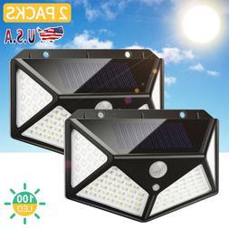 2 LED Solar Powered Lights Outdoor Wireless Motion Sensor Wa