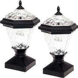 2 Pack GreenLighting Adonia Solar Post Cap Light for 4 x 4 N