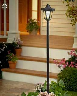 2 Pack Coach Solar Lamp Post Lawn Garden Patio Walkway Outdo