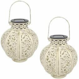 MAGGIFT 2 Pack Hanging Solar Lights Outdoor Retro Hanging So