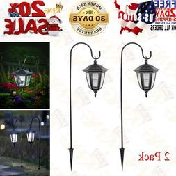 2 Pack MAGGIFT 26 Inch Hanging Solar Light Shepherd Hook Lan