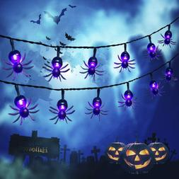 2-Pack of Solar 30-LED 20ft Halloween White Ghost or Purple