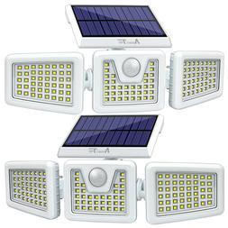 2 Pack Solar Lights Motion Sensor, Security LED Waterproof