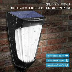 2 Pack, Solar Lights Outdoor, 10 LED IP54 Waterproof, 1200mA