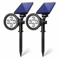 2 pack solar power 4 led spot