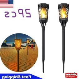 2 pcs 99 LED Waterproof Solar Tiki Torch Light Dancing Flick