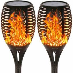 2 PCS,  EOYIZW Solar Flame Torches Lights Flickering Dancing