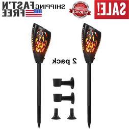 2 Pcs Solar Torch Lights, 3 Installation & Flame Light Flick