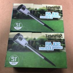 2 sets Solar Garden LED Lights Outdoor Walkay Lights 24 Pack