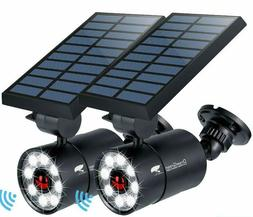 2 units solar lights outdoor motion sensor