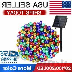 20/100/200 Led Solar String Lights Solar Powered Christmas F