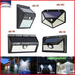 20/34/55LED Solar Lights Outdoor Motion Sensor Wall Light Wa