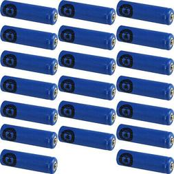20 AA NiCd Nicad 600 mAh 1.2 V Rechargeable Batteries for So
