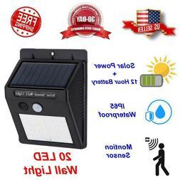 20 LED Outdoor Solar Power Motion Sensor Wall Flood Light Wa