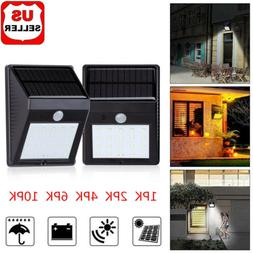 20 LED Solar Power PIR Motion Sensor Wall Light Outdoor Wate