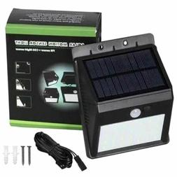 20-LED Solar Wall Lamp Outdoor PIR Motion Sensor Activated C
