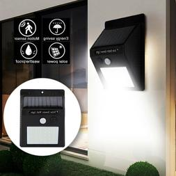 20 LED Solar Wall Lights Power PIR Motion Sensor Garden Yard